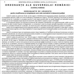 Cititi ordonanta de modificare a Legilor Justitiei (Documentul)